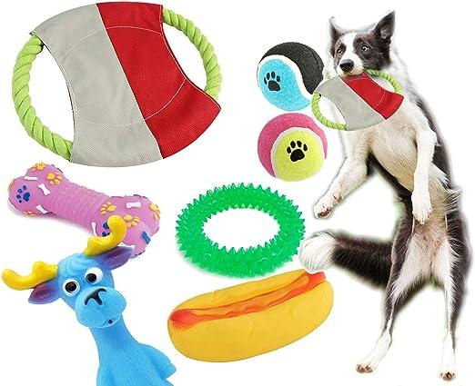 BPS® Pack de Juguetes para Perro, 7 Pcs Juguete Mascotas para Perros Animales Domésticos Colores se envian al azar (Al Azar Modelo 1) BPS-1358*1: Amazon.es: Productos para mascotas