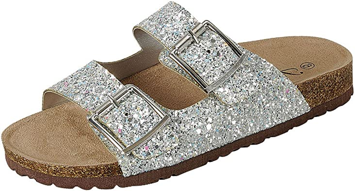 Forever Womens Open Toe Double Buckle