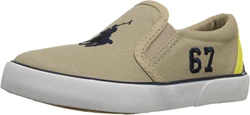 E6268 Sneaker Bimbo Beige Polo Ralph Lauren Scarpe Slip on Canvas ...