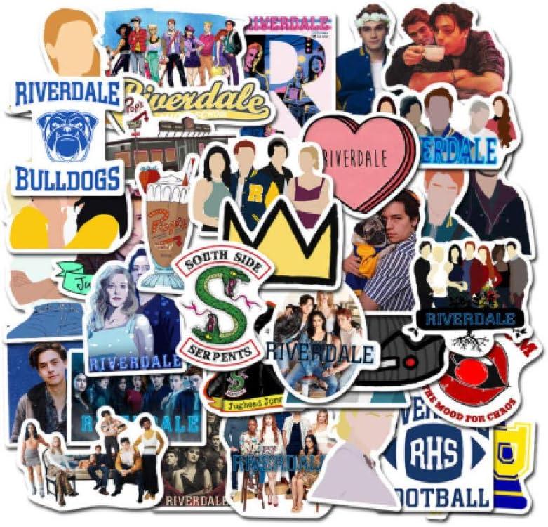 votgl 50 Unids Riverdale fanáticos del Programa de televisión decoración de Regalo Etiqueta DIY álbum de Recortes álbum Equipaje Etiqueta de teléfono portátil Etiqueta: Amazon.es: Coche y moto