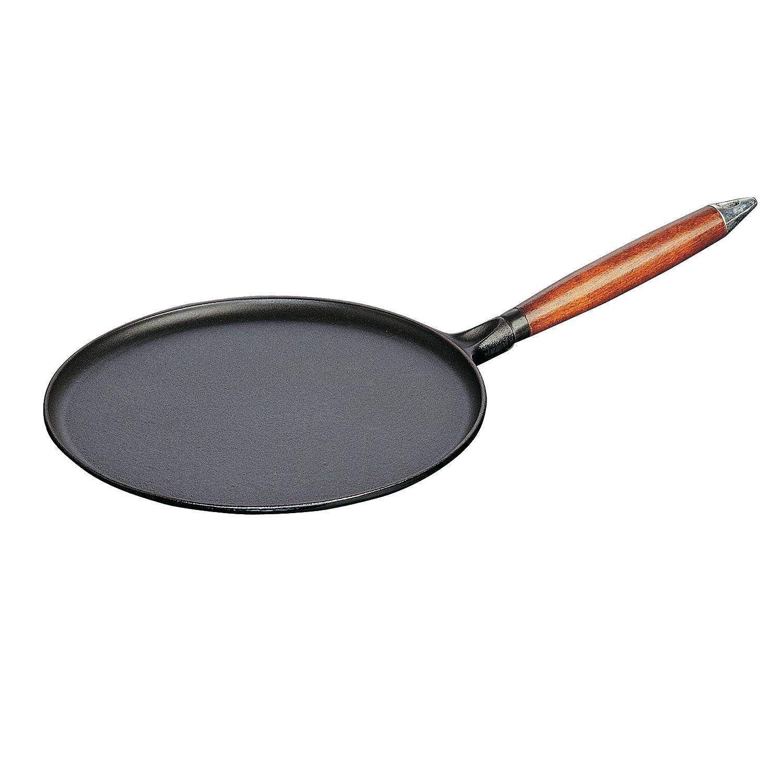 STAUB Pan Sartén crepera, Hierro Fundido, Negro, 30 cm