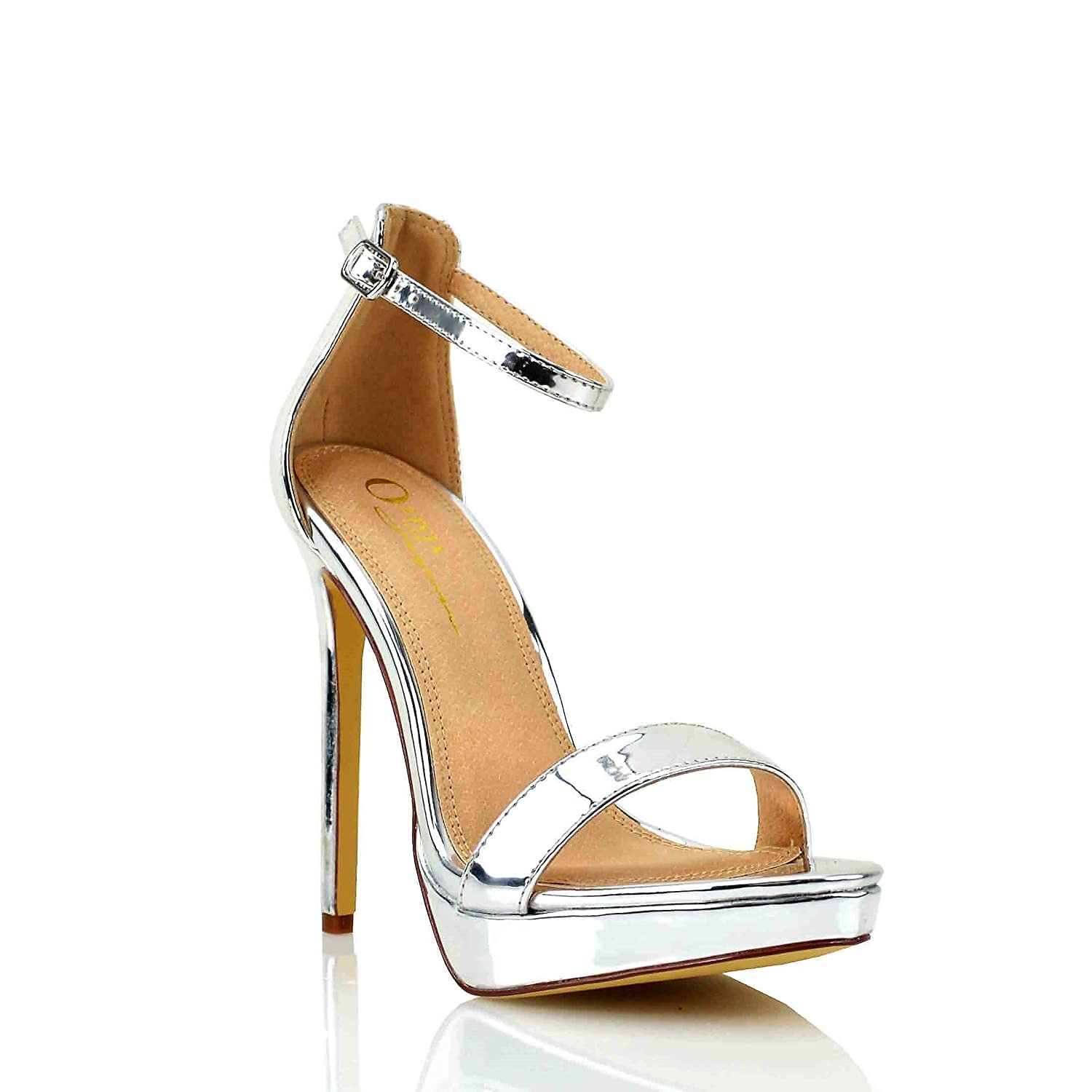 7b875749ea3d7 Women's Dress Sandal | Round Open Toe | One Band Thin Ankle Strap ...