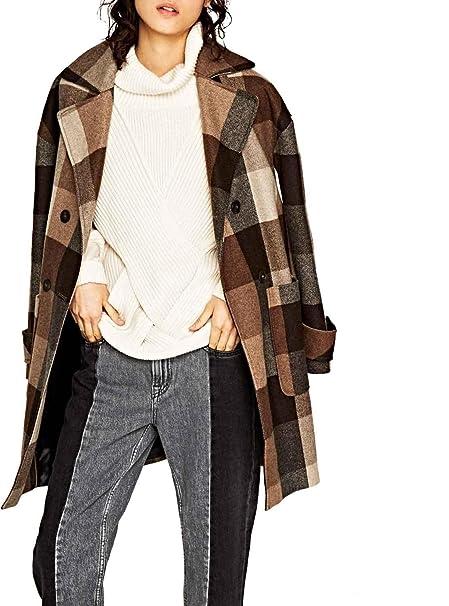Jeans Abbigliamento Amazon Pepe Donna Marrone it Cappotto gPOFqwH