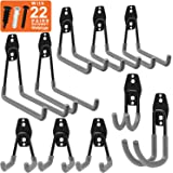 Inteli-topia Garage Hooks, Steel Garage Storage Hooks Utility Double Heavy Duty for Organizing Power Tools, Ladders, Bikes, Bulk Items, Pack of 10