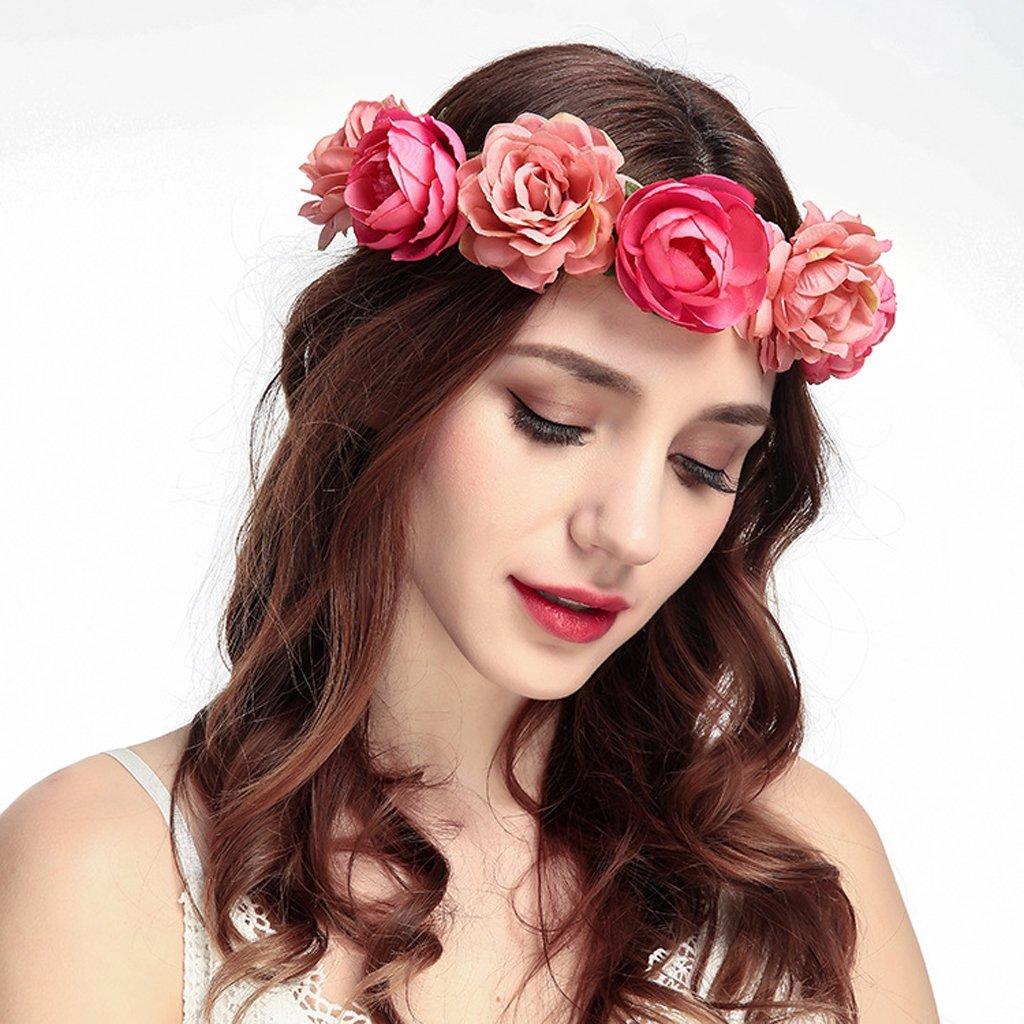 Lunji Jolie Couronne de Fleur Bandeau Cheveux de Mariage Voyage