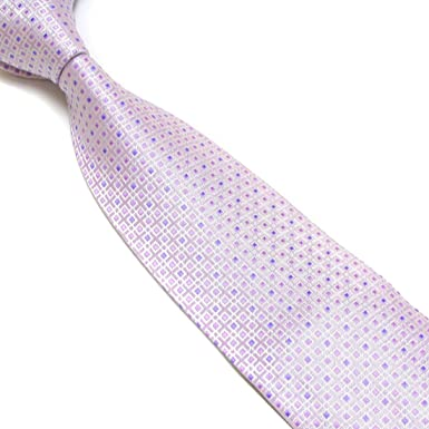 Pink Blue White Classic New Striped JACQUARD WOVEN Silk Men/'s Tie Necktie