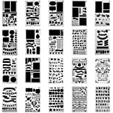 Antner 20 Pcs Plastic Bullet Journal Stencil Set Journal/Notebook/Diary/Scrapbook DIY Drawing Template Stencil, 10.5 x 18 cm