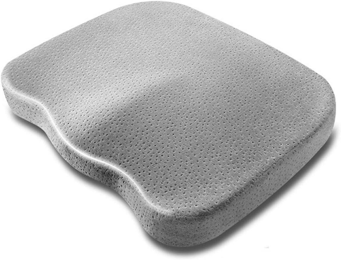 Cushion YJLJL Four Seasons Office Chair Fluff Comfort Relieve Sciatica Relieve Pressure Bottom Non-Slip 35 43 5cm Gray YJLJL (Color : Gray)