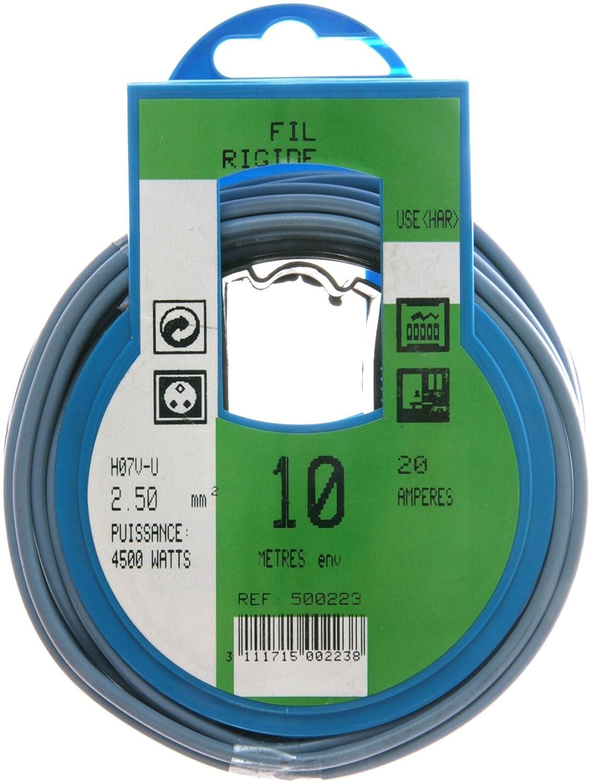 Profiplast PRP500220 Couronne de c/âble 10 m ho7v-u 2,5 mm Vert//Jaune