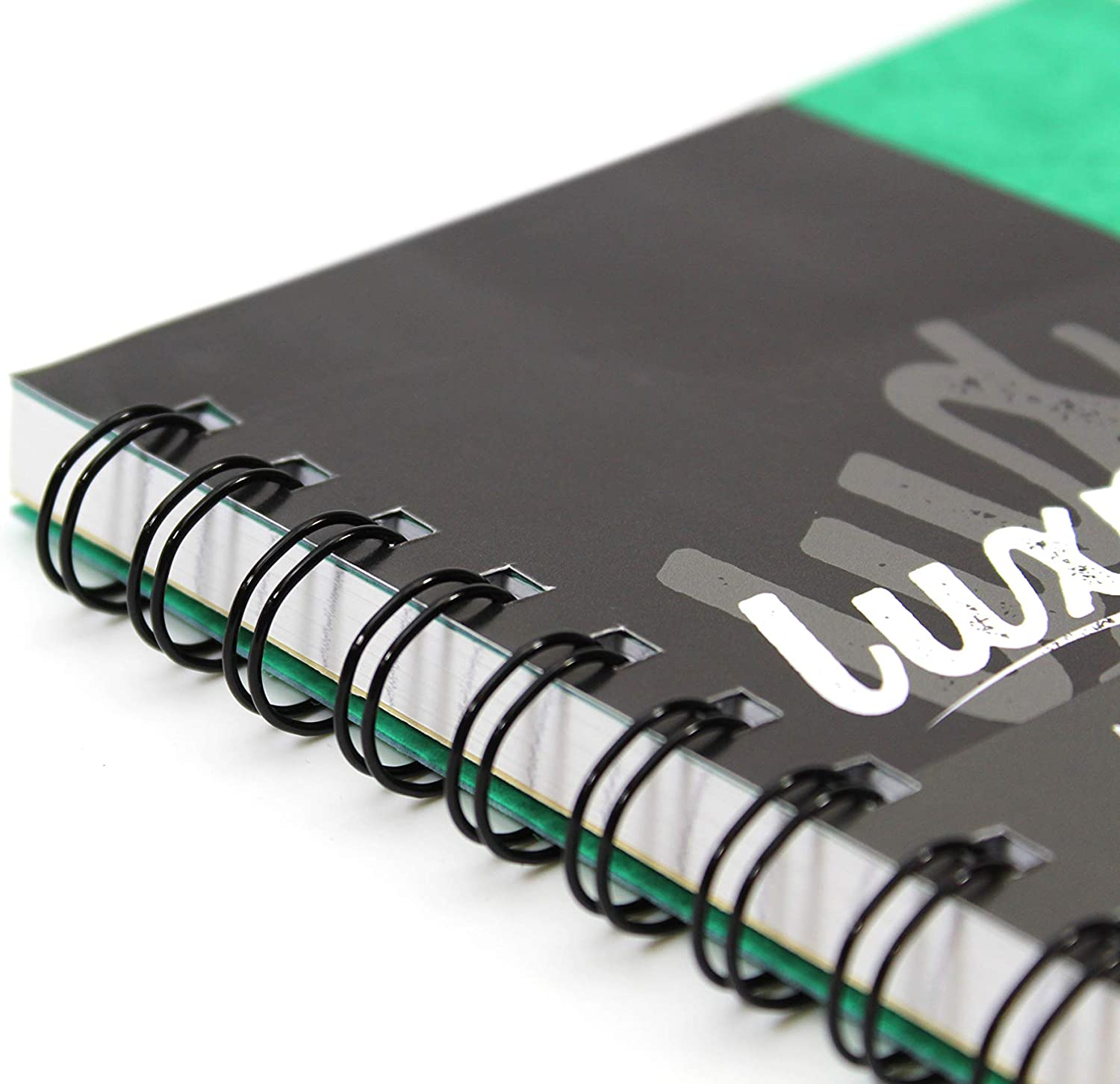 Luxpad A4 Twin Wire Hardback Notebook with 200 Feint Ruled Pages and Durable Pressboard Covers. Pack of 6