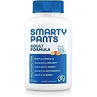 SmartyPants Adult Complete Daily Gummy Vitamins: Gluten Free, Multivitamin & Omega 3 DHA/EPA Fish Oil, Methyl B12…