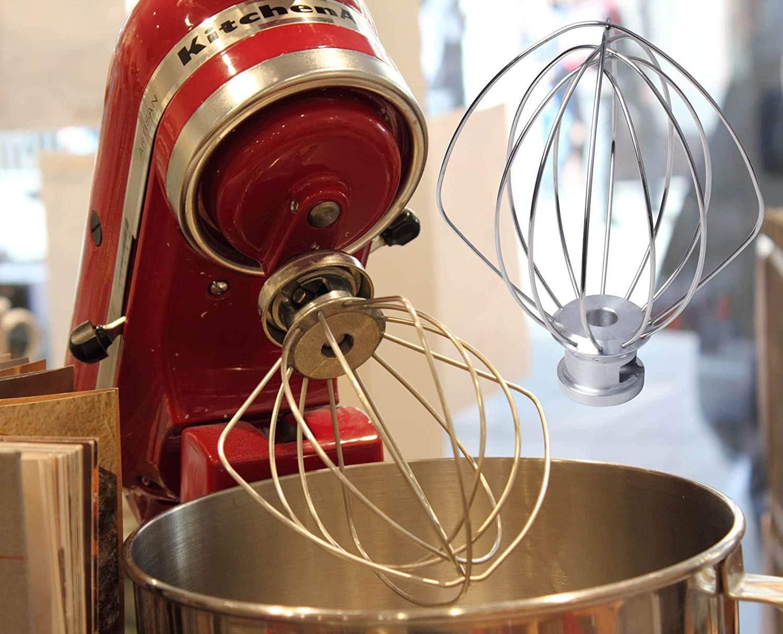 set di frusta gancio impastatore e sbattitore piatto Sbattitore in acciaio inox per Kitchen-Aid compatibile con tutti i robot da cucina Artisan 5L Poweka