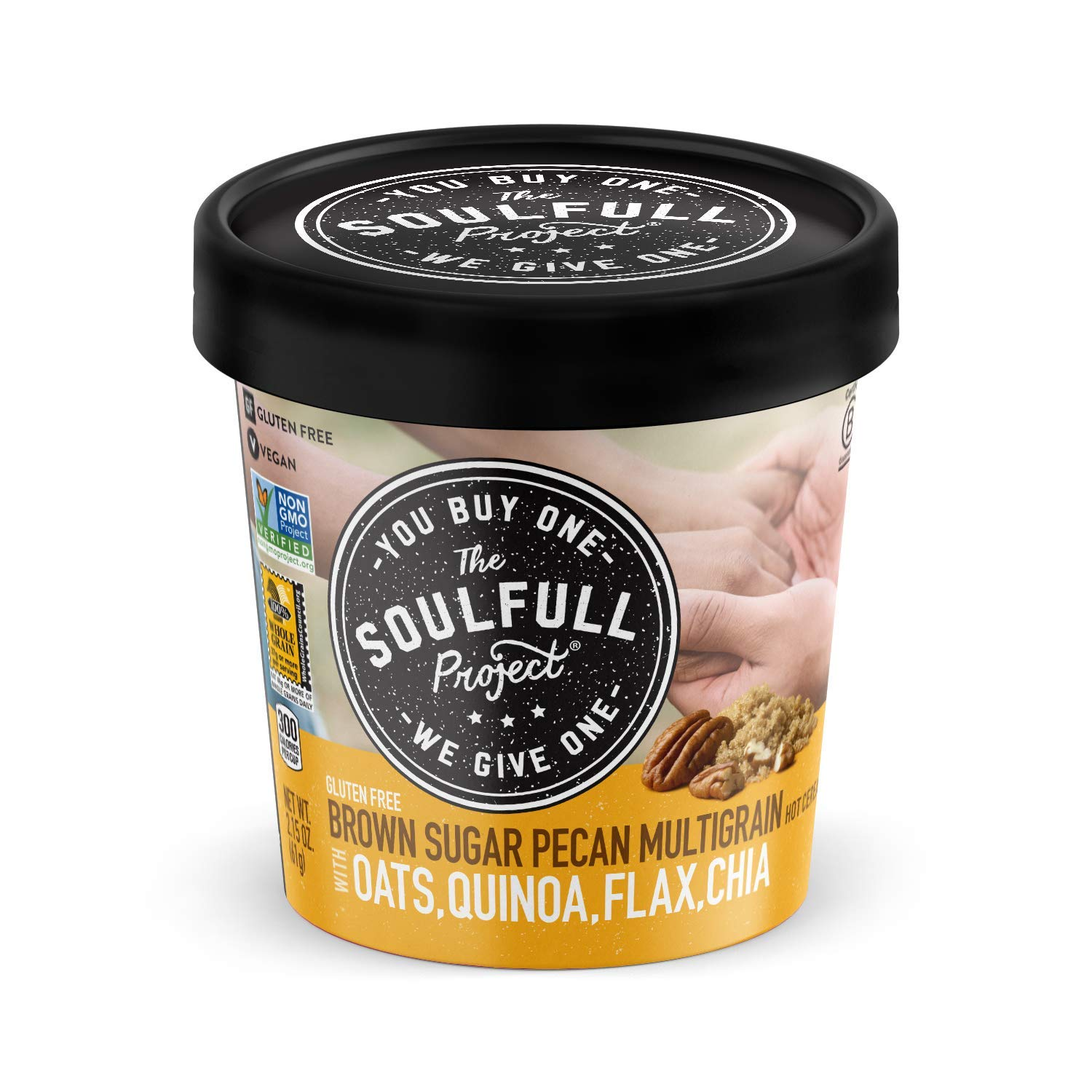 The Soulfull Project Instant Oatmeal Cups, Brown Sugar Pecan, 2.15 Ounce (Pack of 6), Non GMO, Gluten Free, Vegan