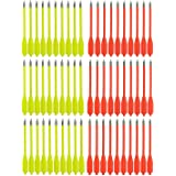 "SPEED TRACK 60Pcs 7"" 50-80lb Bright Pistol Crossbows Cobra Bolts Target Sharp Arrows Archery"