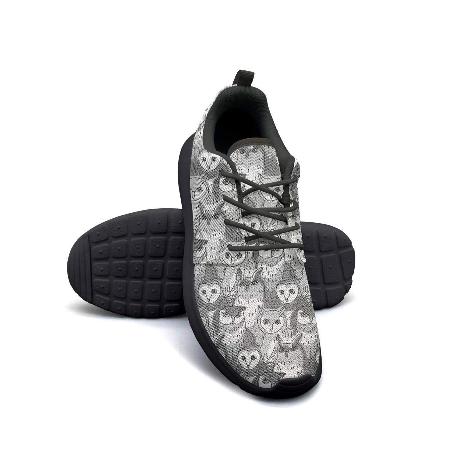 VXCVF Rainbow Dogs Cats Horse Hippo owl Cow Male Sneakers for Mens Breathable and Lightweight Casual