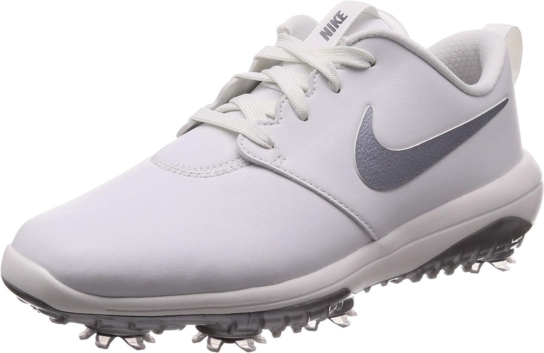 Amazon Com Nike Women S Roshe G Tour Golf Shoes 8 D Us Summit White Metallic Cool Grey Shoes