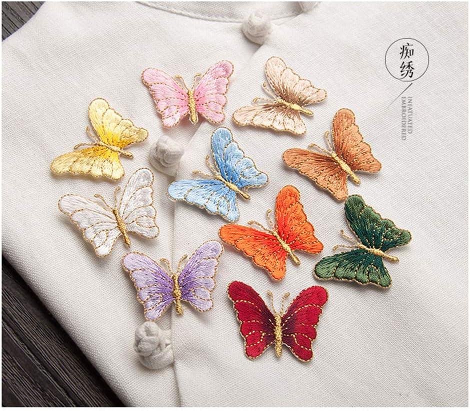 Ragazze Ragazzi Bambini Donne Juland 20 PC Mini Butterfly Patch Ricamate Personalizzato Ricamato Autoadesivo Patch per Zaino per Uomini