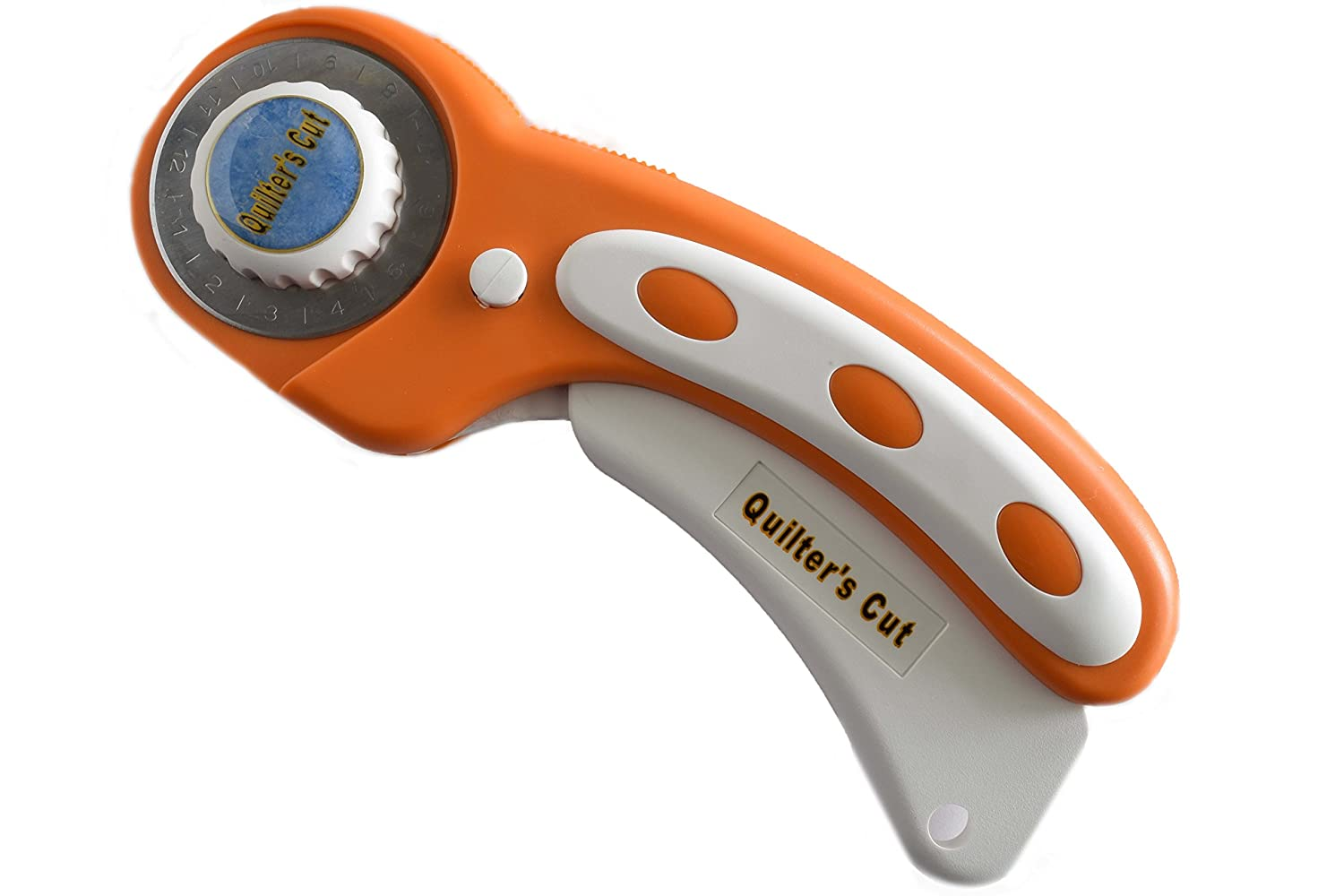 Quilter's Cut Deluxe Rotary Cutter, 45mm Ergonomic Handle Works With All Major Brands (45mm, Yellow) Quilter' s Cut 45mm Handle