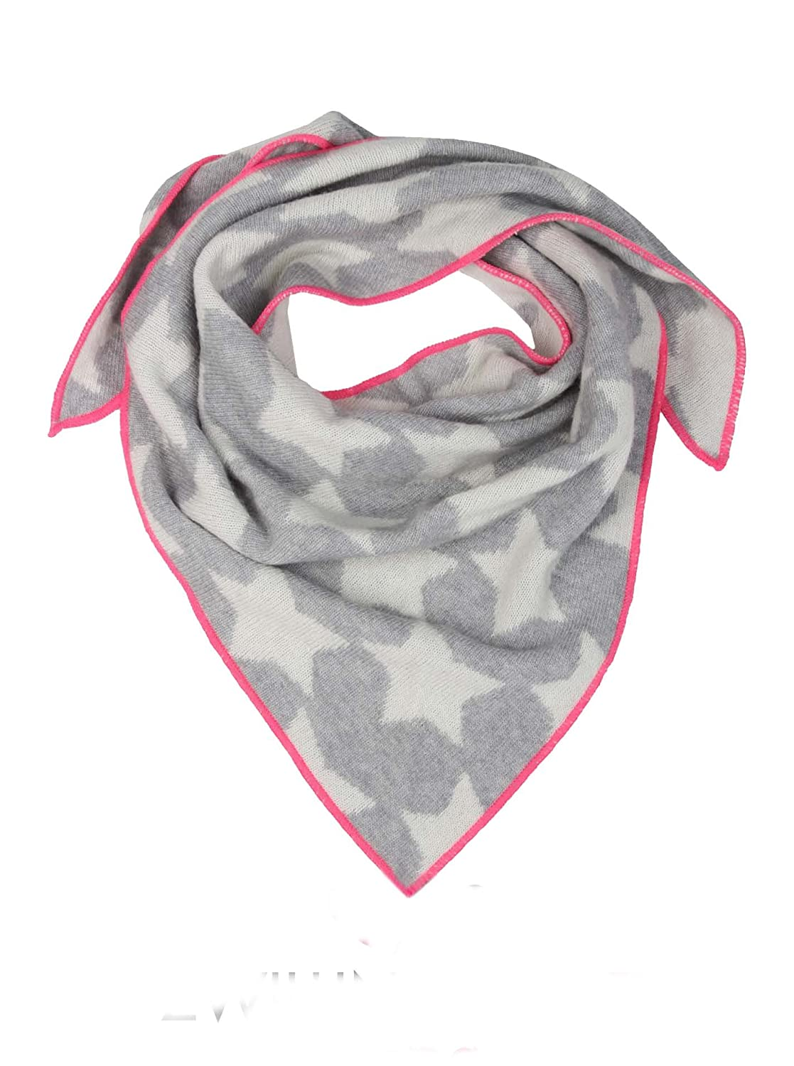 Cashmere Triangle Scarf Zwillingsherz XXL Neck Scarf and Ladies High quality scarf with stars for baby-s Boys and girls Cashmere Dreams knitwear for summer and winter