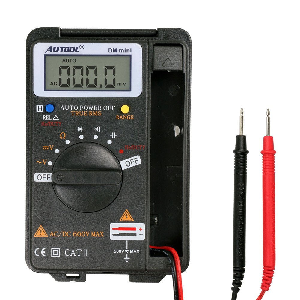 Auto Digital Multimeter Ammeter TuLanAuto DM mini DMM Integrated Personal Handheld Pocket Mini Digital Multimeter Ammeter Auto Range Tester