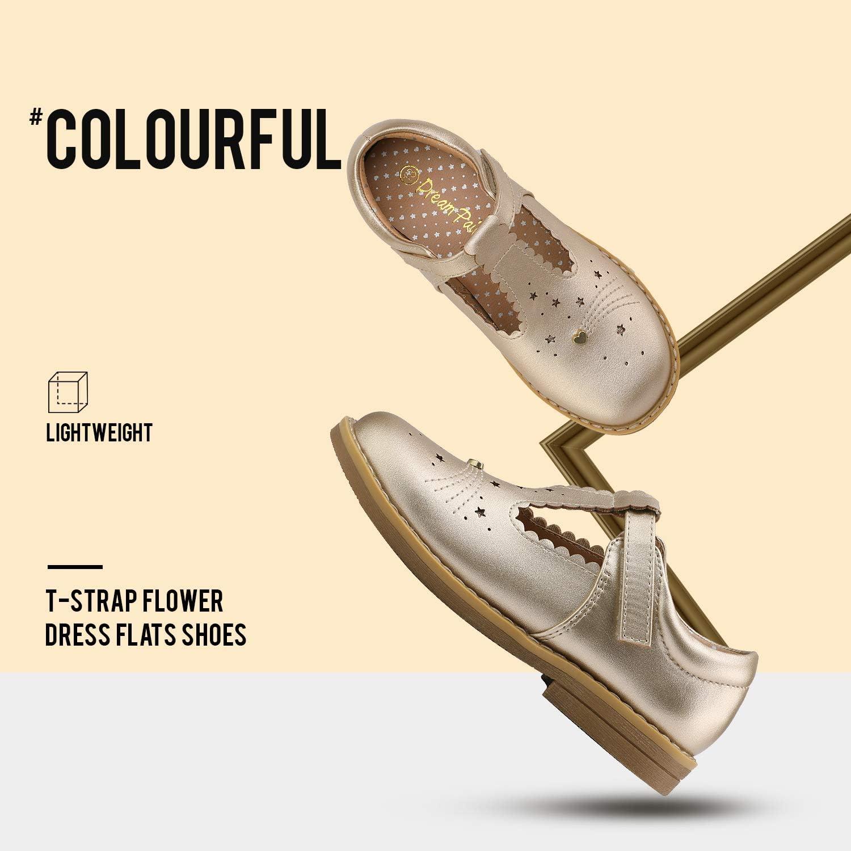 DREAM PAIRS Girls Ballerina Dress Shoes T-Strap Mary Jane Flats