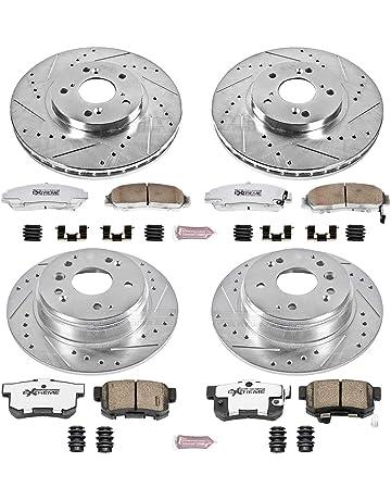 Drill Slot Brake Rotors F/&R POSI QUIET Ceramic Pads for Sebring 3.5L 200 3.6
