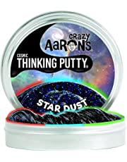 """Crazy Aaron's Thinking Putty, 4"""" Tin, Star Dust Cosmic Glow in the Dark with Black Light Key Chain"""