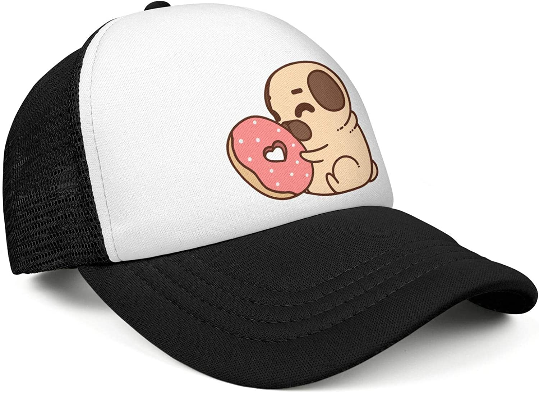 TopCrazy Pug Puppy Bulldog Boston Terrier Donuts Baseball Hat Men//Women Style Sports Hat