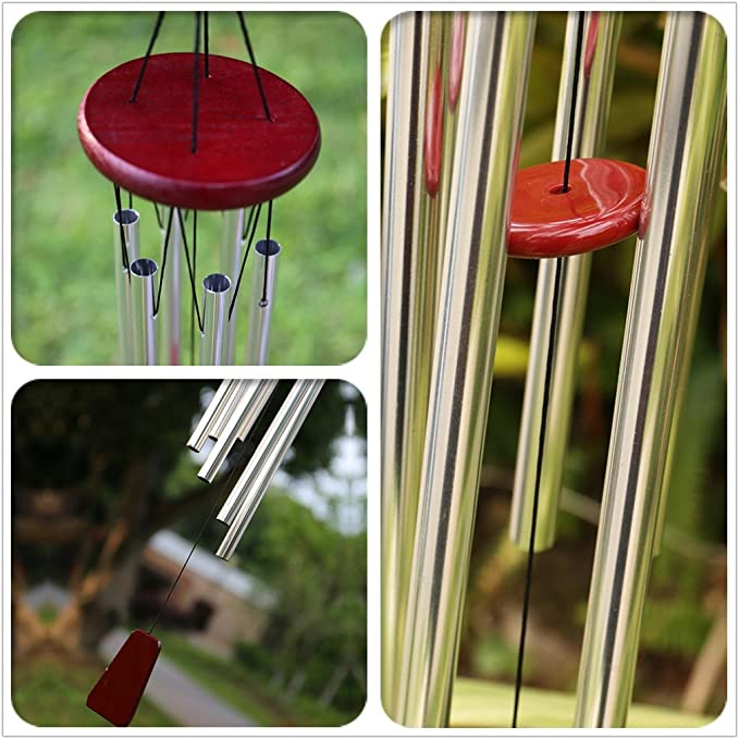 Perfect Decor for Garden Balcony Outdoor /& Indoor 28 Amazing Grace Wind Chimes 6 Long Aluminum Tubes punada Beautiful Tune Wind Chimes Outdoor Patio