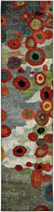 Mohawk Strata Tossed Floral Abstract Printed Area Rug, 2'x8', Multicolor