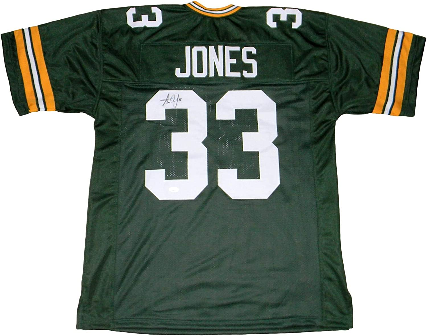 Aaron Jones Autographed Signed Green Bay Packers 33 Green Jersey Jsa Autographed Nfl Jerseys At Amazon S Sports Collectibles Store