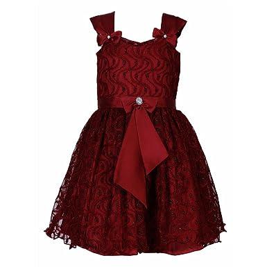 a3b2222eee2a LAVIS Latest Designer Baby Girls Maroon Net Party Wear Dress Frock ...