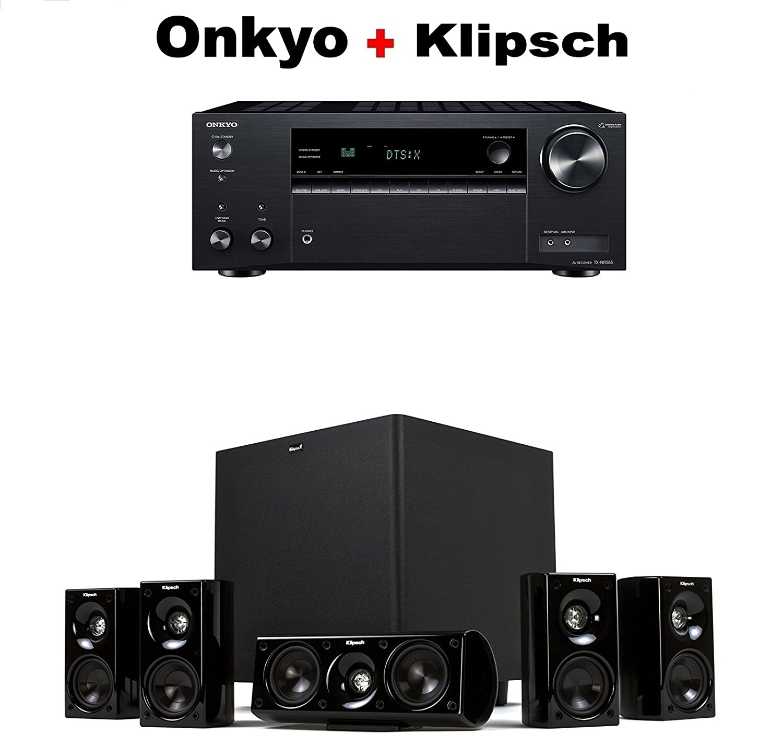 Amazon com: Onkyo TX-NR585 Receiver + Klipsch HDT-600 Home