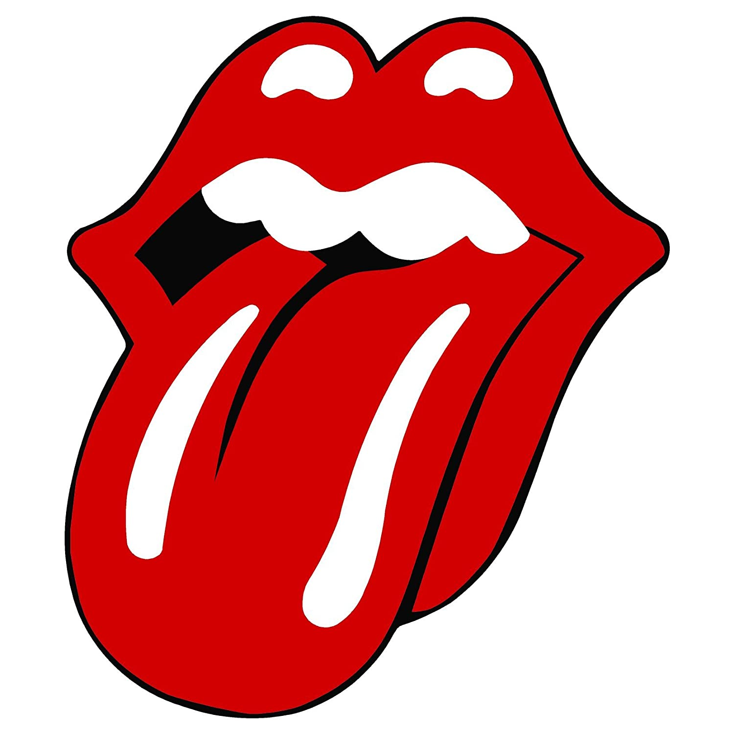 Amazon com rolling stones tongue vynil car sticker decal 2 5 automotive