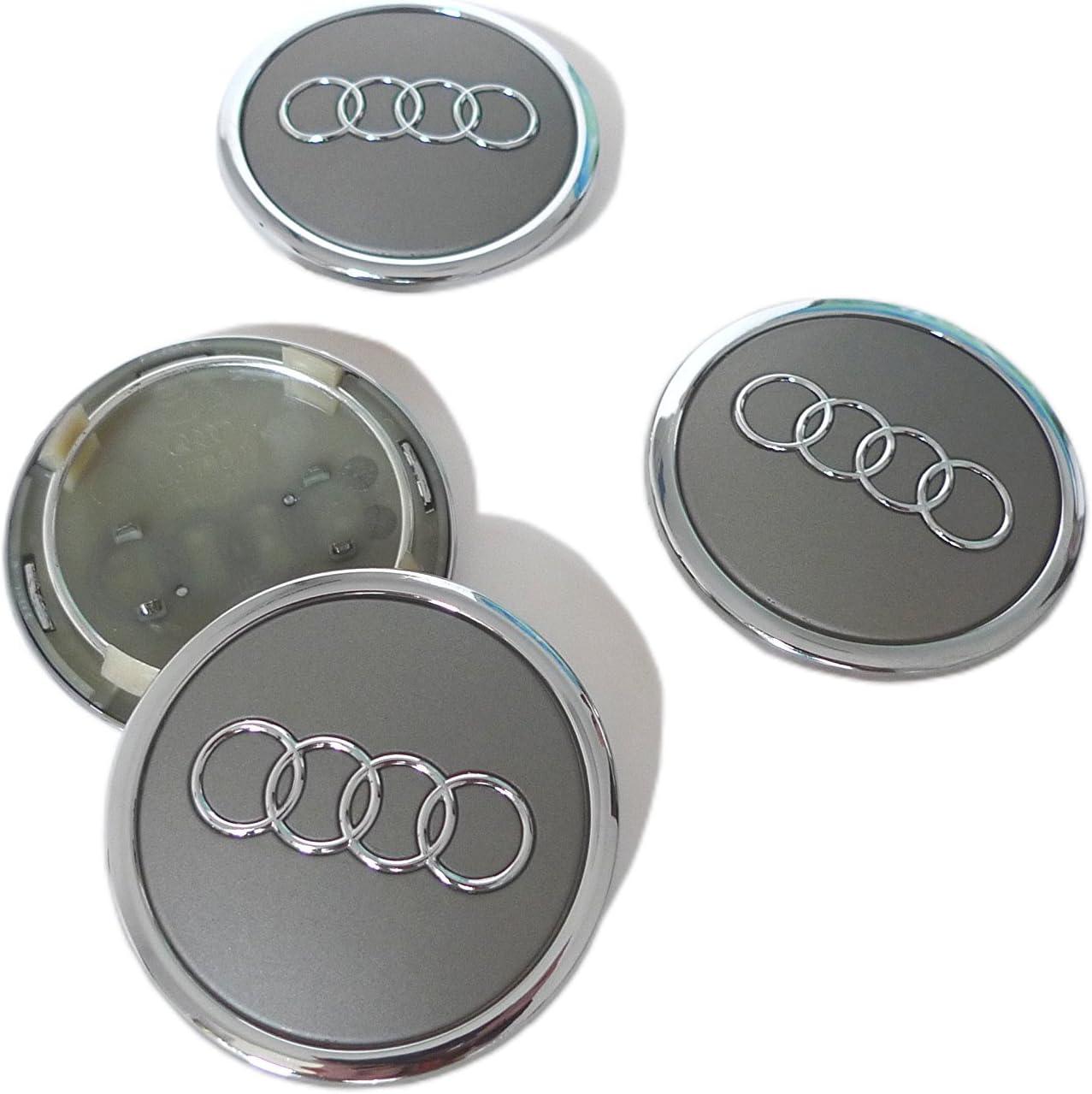 Set di 4/Audi in lega spille grigio Coprimozzo centrale 69/mm 4B0601170/A S3/S4/A2/A3/A4/A6/A8/TT RS4/Q5/Q7/S3/S4/A6/S6/RS6/TT e altri modelli