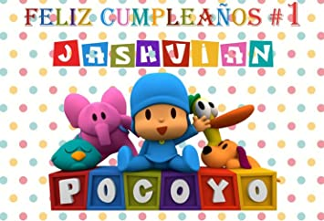 Amazon.com : Customize Vinyl Cartoon Pocoyo Colourful Polka ...