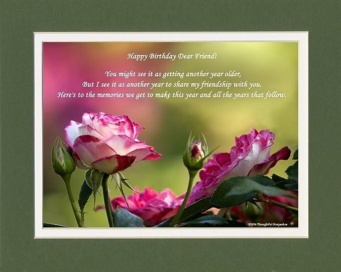 Amazon Com Friend Birthday Gift Roses Photo With Happy Birthday