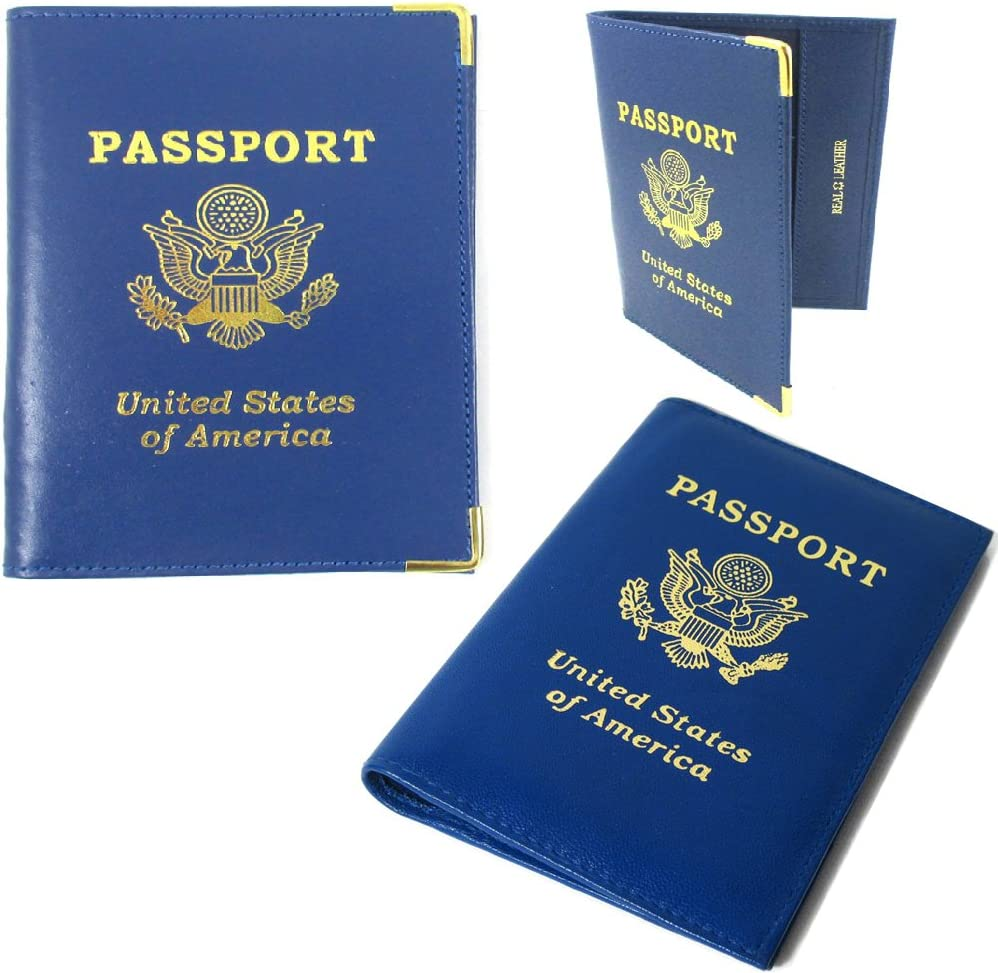 USA Travel Leather Passport Organizer Holder Card Case Protector Cover Wallet
