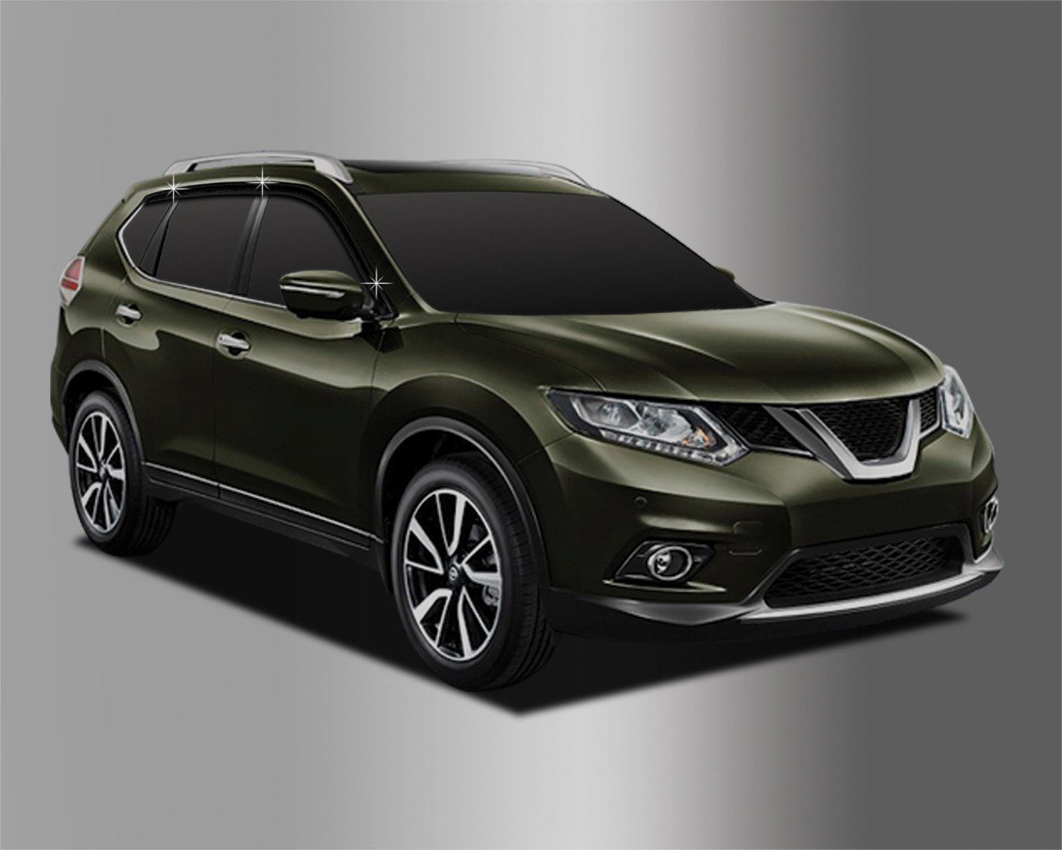 Smoked Autoclover Nissan X-Trail 2014 6 pieces Wind Deflectors Set