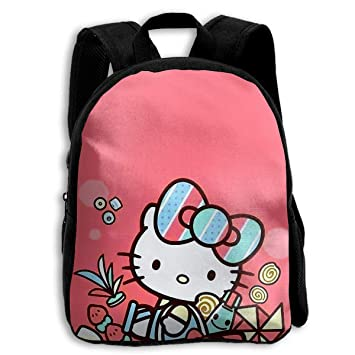 5a3b6f40c9 Image Unavailable. Image not available for. Color  CHLING Kids Backpack  Hello Kitty Print Childrens School Bag Teenager Bookbag for Boys Girls