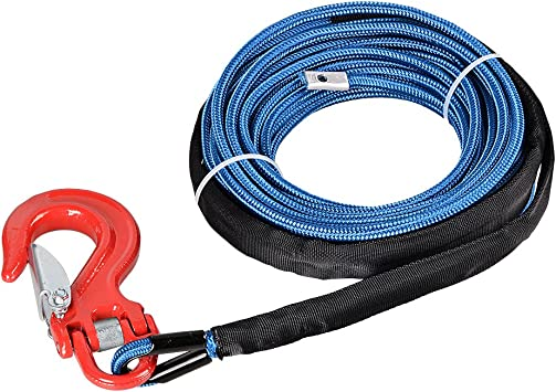 "1//4/""X 50 Feet Synthetic Winch Rope Line Recovery Cable 7000LBS For ATV W//Sheath"