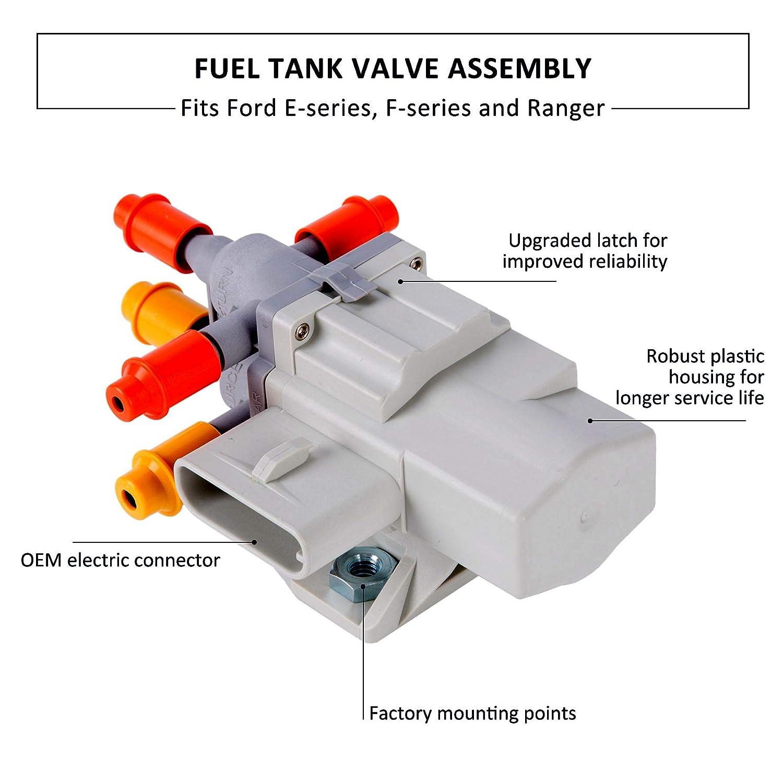 Orion Motor Tech 6c3z 9189 A Fuel Tank Selector Valve 2000 Ford F450 Assembly 6 Ports Fits F250 F350 Super Duty F550 E150 E250 E350 Ranger 60