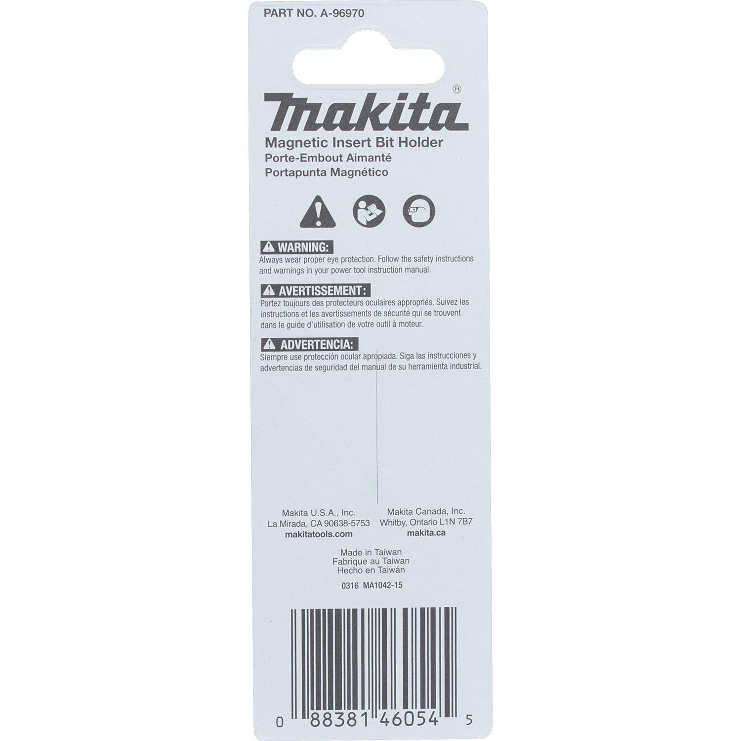 Makita A-96970 Impactx 2-3/8″ Onepiece Magnetic Insert Bit Holder - - Amazon.com