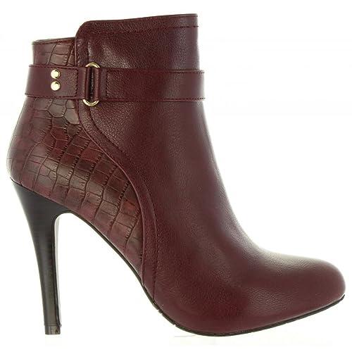 Botines de Mujer MARIA MARE 61395 C29223 BOMBEADO VINO Talla 41: Amazon.es: Zapatos y complementos
