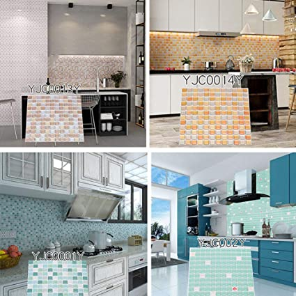 sal008ly7far Mosaico 3D Adesivo per Pavimenti da Parete ...