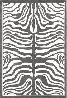 1802 Gray Zebra 5x7 Feet Area Rug Carpet Large New