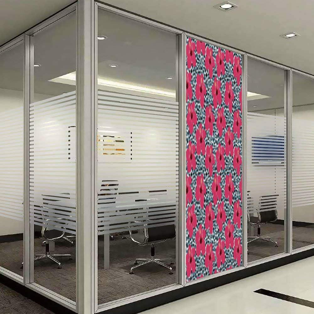YOLIYANA El Efecto Visual del Vidrio Texturizado y vidriera vidriera, Decoraciones Hawaianas, es Bueno para Largos años bajo el Sol, Flores Hawaianas de Hibisco y Hojas de Tela de Moda, diseño: Amazon.es: