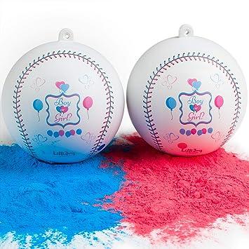 LilliJoy - Juego de 2 pelotas de béisbol para revelar el género de ...