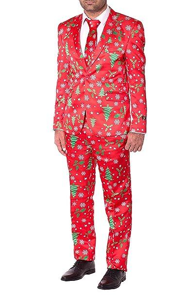 Amazon.com: Traje de Navidad entallado novedoso para hombres ...