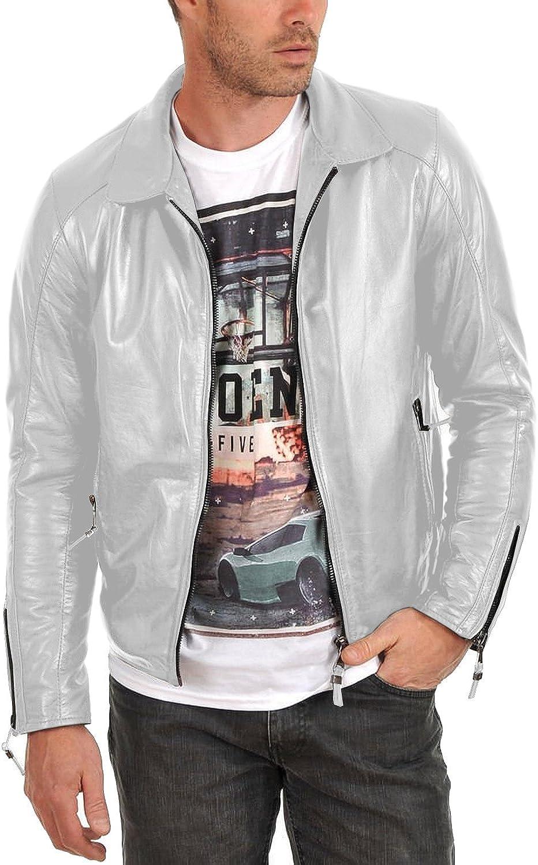 Laverapelle Mens Genuine Lambskin Leather Jacket Black, Aviator Jacket 1501519